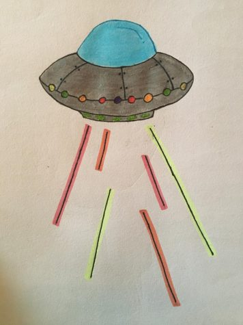 A drawing of a supposed Alien UFO hidden in Area 51.
