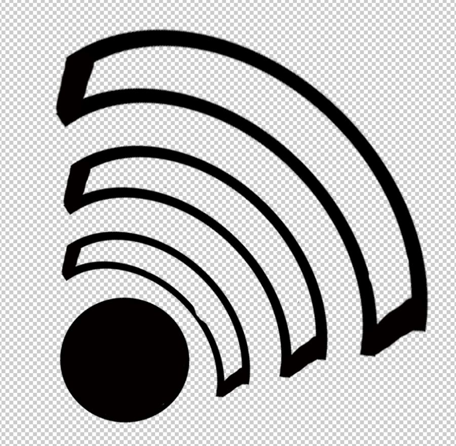 The sign of wifi connection, representing the waves of bluetooth.