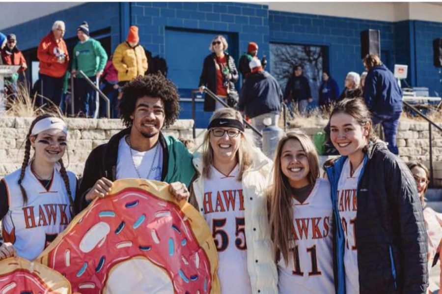 The Unified Special Olympic team Participated in the Polar Plunge on Feb 8 at Shawnee Mission Part to Raise Money for Individuals with Disabilities