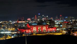 Union Station showcases Chief's colors to honor their Super Bowl win